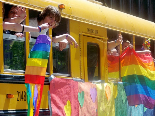 Gay-Straight Alliance school bus