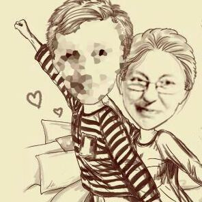 Maribel Blanco y su hijo