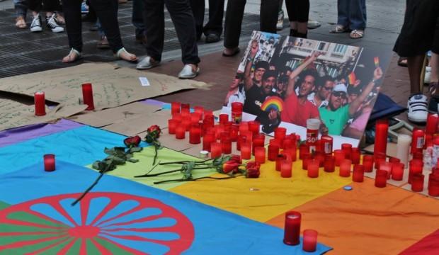 Fotografía de Enrique Anarte del acto celebrado el martes en Chueca