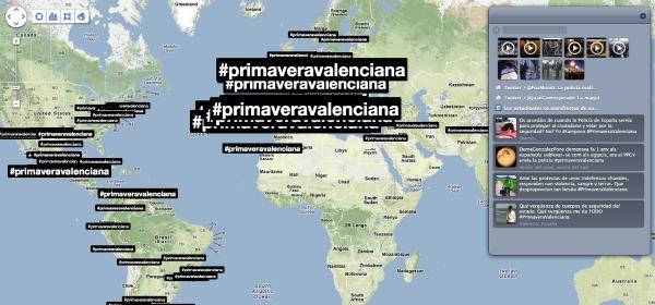 Mapa del hashtag #primaveravalenciana en trendsmap