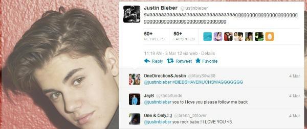 Tuit de Justin Bieber