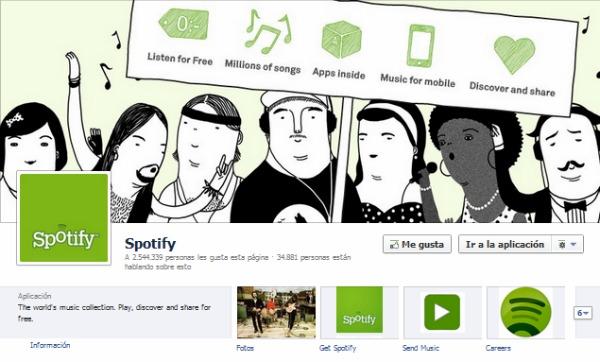 Timeline de Spotify
