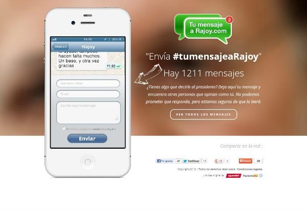 Tu mensaje a Rajoy