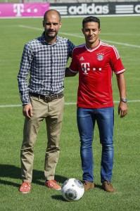 Thiago Alcántara y Pep Guardiola