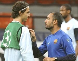 Ibrahimovic y Guardiola