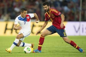Raúl Albiol ante Chile