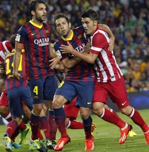 Partido entre Barça y Atlético