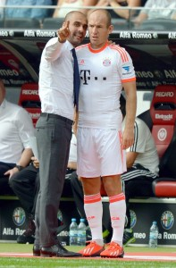 Guardiola y Robben