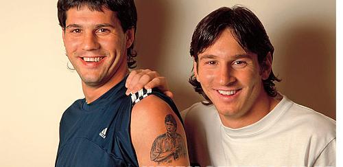 Leo Messi y su hermano Matías