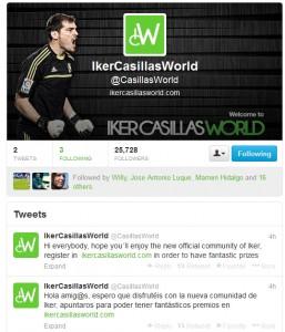 Cuenta de Twitter de Casillas