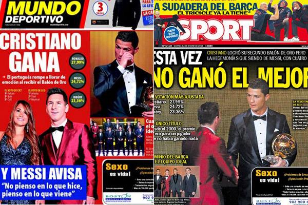 Portadas Sport y Mundo Deportivo