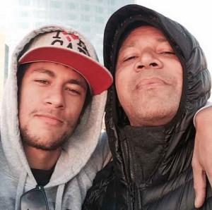 Neymar Jr. y su padre