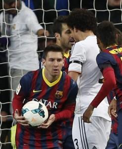 Messi tras marcar ante el Madrid