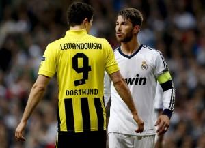 Lewandowski y Sergio Ramos