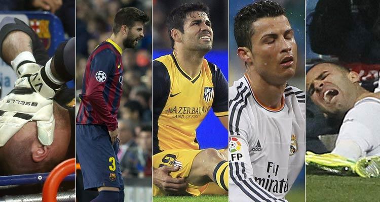 Valdés, Piqué, Diego Costa, Cristiano y Jesé