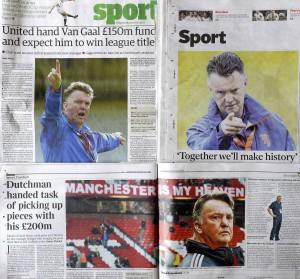 Louis Van Gaal en la prensa inglesa