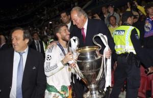 Sergio Ramos y el rey Juan Carlos