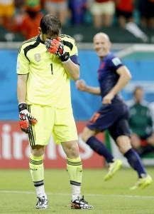 Casillas y Robben