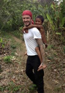 Beckham en Brasil