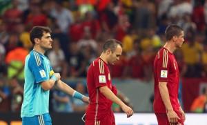 Casillas, Iniesta y Torres.