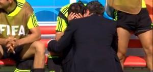 Lágrimas de David Villa