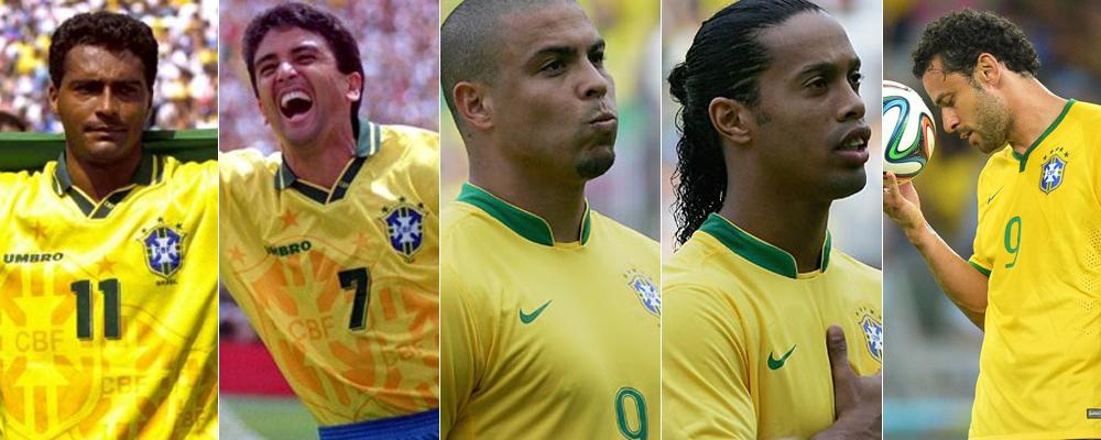 Evolución de la delantera de Brasil