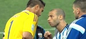 Mascherano y Sergio Romero