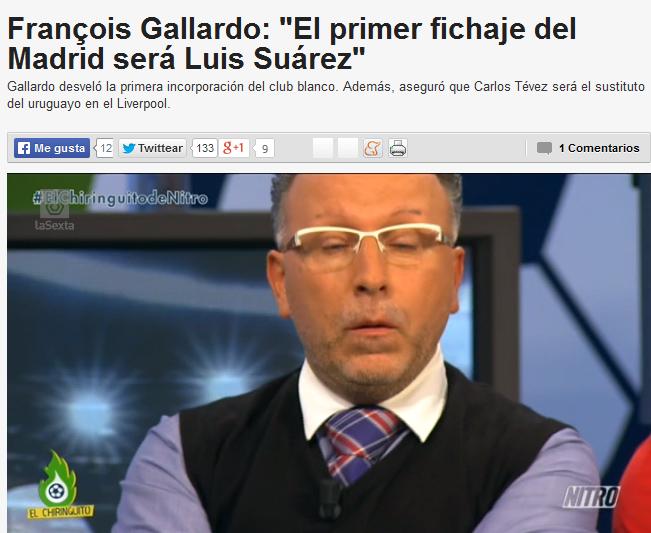 Gallardo sobre Luis Suárez