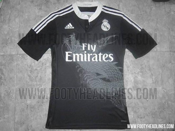 041ac21b4 La tercera equipación del Real Madrid será negra y con un dragón