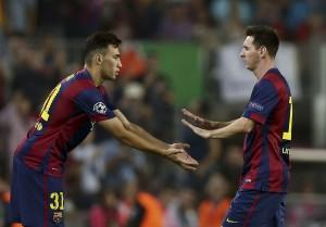 Messi sustituido