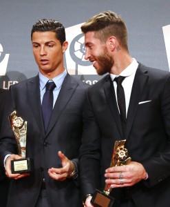 Cristiano y Ramos en los Premios de la LFP