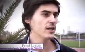 Fonsi Loaiza, representante del círculo Podemos deporte