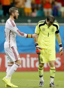 Casillas y Sergio Ramos