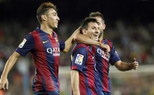 Munir, Messi y Alba