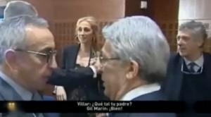 Villar preguntando a Gil Marín por su padre