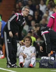 Luka Modric lesionado (EFE).