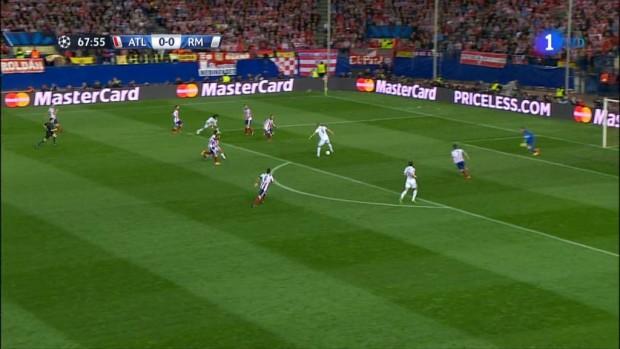 Benzema, en el Atlético - Real Madrid