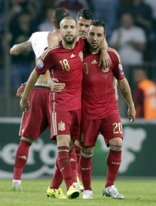 Cazorla y Jordi Alba