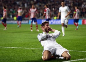 Sergio Ramos tras marcar en la final de Champions