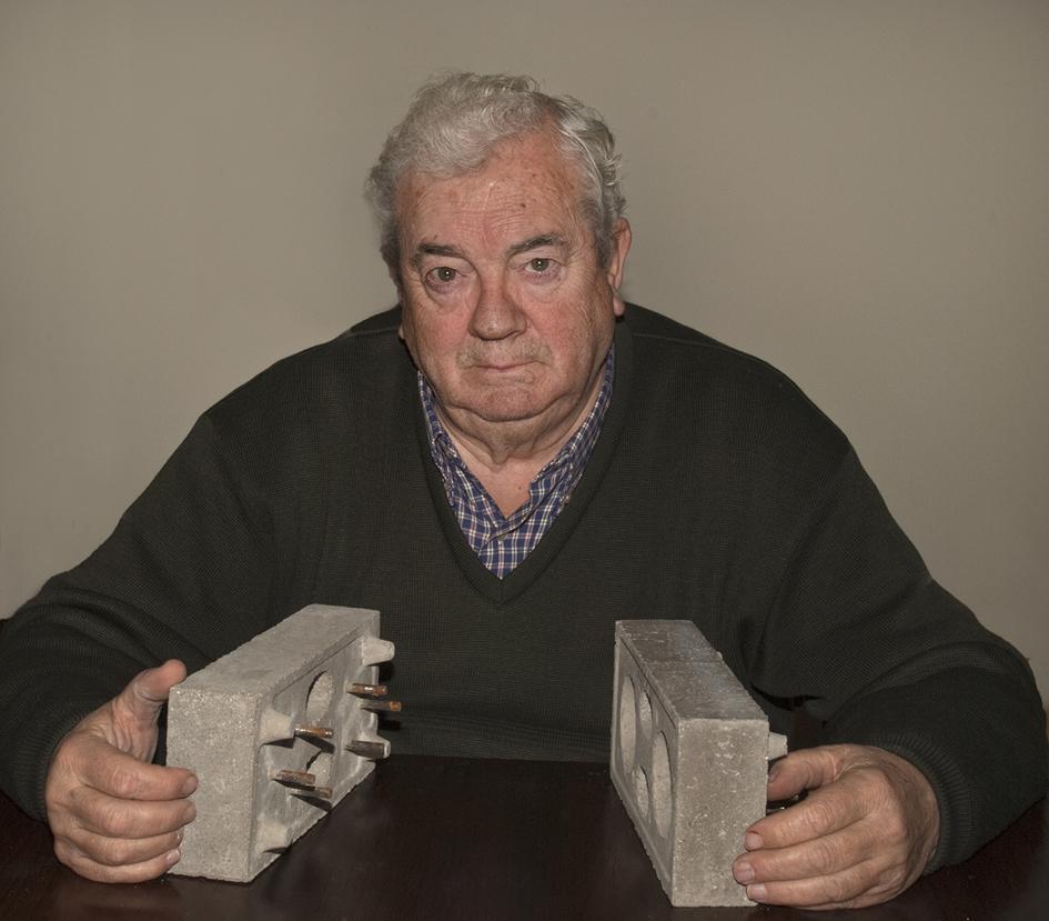 Andrés Villamarín, el inventor de los ladrillos. Foto de Elena Villamarín.