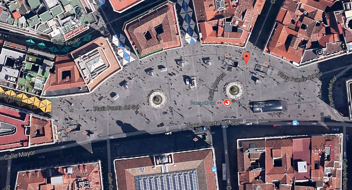 Puerta del Sol, captura de google maps