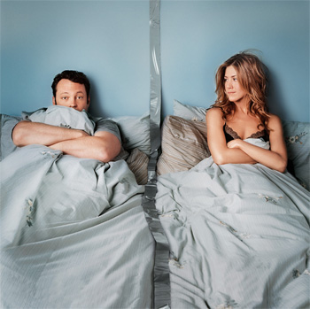 "Vince Vaughn y Jennifer Aniston en ""Separados"""