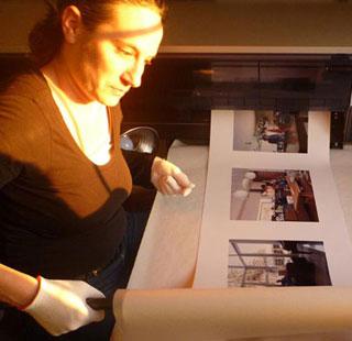 Tanja Hollander en su laboratorio