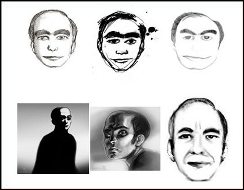 Dibujos de 'This man' hechos por gente que ha soñado con él.