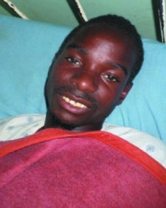 Chamangeni Zulu, en el hospita. Fuente: Lusaka Voz.