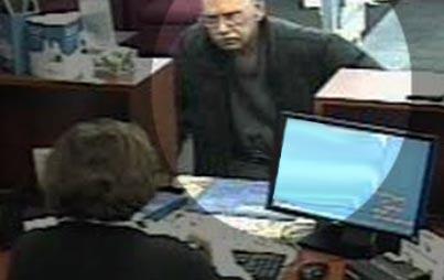 Imagen del CCTV del banco que sufrió el atraco de Walter Unbehaun.