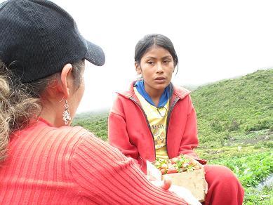 Delicia nos cuenta sobre su trabajo. Foto: Roxana Pintado