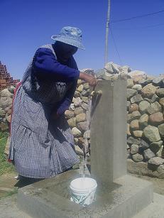 Marcela y sus vecinos ya tienen agua potable