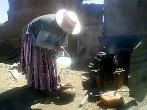 Marcela cocinando