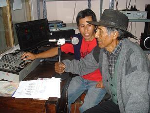 Cristian en la radio